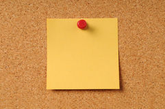 Sticky Notepad on Cork Board Stock Photos