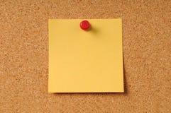 Sticky Notepad On Cork Board Stock Photos
