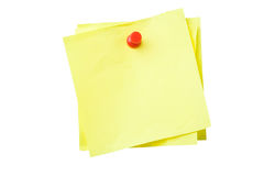 Sticky Notes. Yellow sticky notes isolated on white background with clipping path Stock Photography