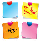 Sticky Notes. 3D  collection of colorful sticky notes Royalty Free Stock Image