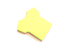 Sticky notes. Colorful sticky notes  isolated over white background Royalty Free Stock Images