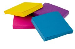 Sticky Notes. Four pads of various colored sticky notes Royalty Free Stock Images
