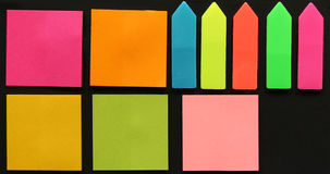 Sticky Notes. Different colorful sticky notes Royalty Free Stock Images