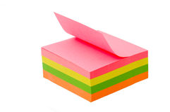 Sticky notes. Isolated on the white background Royalty Free Stock Images