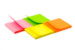 Sticky notes. Isolated on the white background Stock Photography