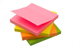Sticky notes. Isolated on the white background Royalty Free Stock Photography