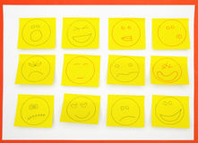 Sticky notes with attitudes Royalty Free Stock Image