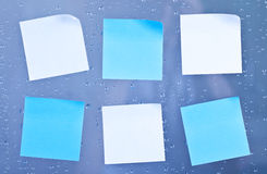 Sticky notes in bathroom Royalty Free Stock Photo