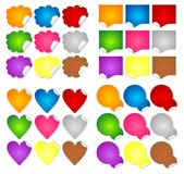 Sticky notes collection Stock Image
