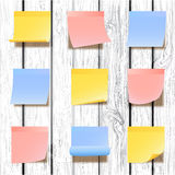 Sticky notes collection Stock Images
