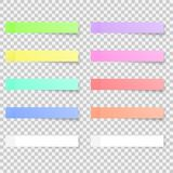 Sticky notes colored papers. stock illustration