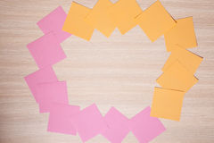 Sticky notes and copy space Royalty Free Stock Photo