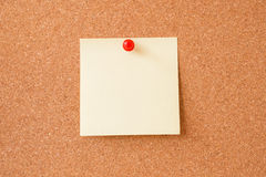 Sticky notes on cork board Stock Photo