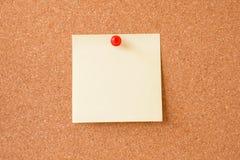 Sticky notes on cork board Stock Photo