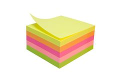 Sticky Notes Cube Royalty Free Stock Image