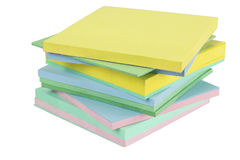 Sticky notes cube Royalty Free Stock Photos