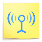 Sticky_notes del cartoon_on de Wifi libre illustration