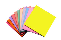 Sticky Notes Fanned Stock Photo