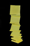 Sticky notes flying up off the pad Royalty Free Stock Photo
