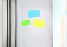 Sticky notes on the fridge Stock Photo