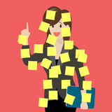 Sticky notes girl Stock Images