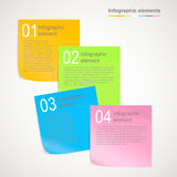 Sticky notes. Infographic elements, multicolored sticky notes Royalty Free Stock Photography