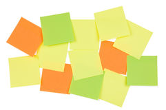 Sticky notes. A lot of multicolored sticky notes isolated on white Royalty Free Stock Images