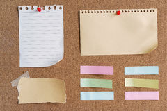 Sticky notes and memo Royalty Free Stock Photo