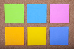 Sticky Notes on a Noticeboard Royalty Free Stock Photo