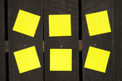 Sticky Notes On A Wooden Wall Royalty Free Stock Photos