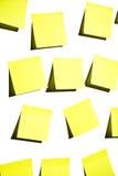Sticky Notes On White Stock Photo