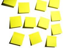 Sticky Notes On White Stock Photos