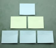 Sticky Notes Organization Chart Template Royalty Free Stock Photography