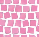 Sticky notes pattern Royalty Free Stock Photography