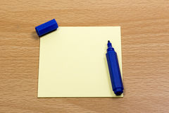 Sticky Notes and pen Royalty Free Stock Photos