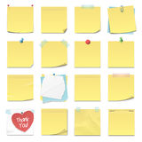 Sticky Notes. Set of sixteen different sticky notes in vector format Stock Photography