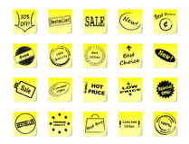 Sticky notes for shop Royalty Free Stock Photography