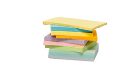 Sticky notes. A stack of colorful sticky notes Royalty Free Stock Photos