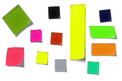 Sticky notes #03. Sticker notes isolated on the white background stock images