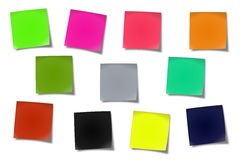 Sticky notes #02. Sticker notes isolated on the white background stock photo