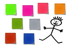 Sticky notes #01. Sticker notes isolated on the white background stock photography