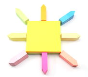 Sticky Notes Sun Royalty Free Stock Images