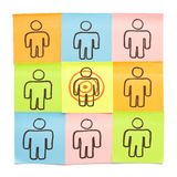 Sticky Notes Target Your Customers. Target Your Customers concept made with sticky notes on white background Royalty Free Stock Photography