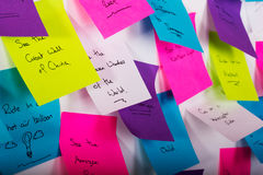 Sticky notes with things to do Stock Images