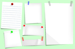 Sticky notes. Vector illustration background Royalty Free Stock Photography