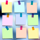 Sticky notes wallpaper Royalty Free Stock Image