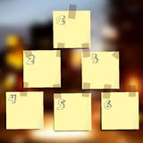 Sticky notes wallpapers Stock Images
