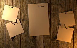 Sticky notes wanted. On the wood wall Royalty Free Stock Images