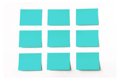 Sticky notes on white background Royalty Free Stock Photography