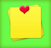 Sticky Notes With Heart Royalty Free Stock Photos